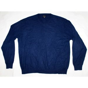 Club Room 100% Cashmere Long Sleeve V-Neck Sweater